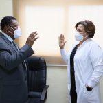 Juramentan nueva directora en el hospital de Engombe